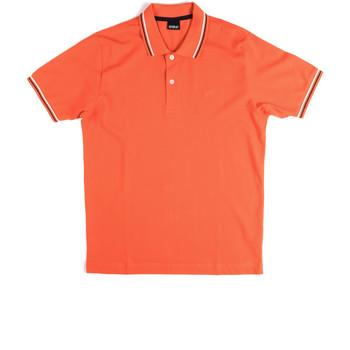 tekstylia Męskie Koszulki polo z krótkim rękawem Key Up 2Q70G 0001 Pomarańczowy