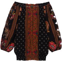 tekstylia Damskie Topy / Bluzki Desigual 19WWBW23 Czarny