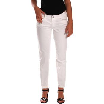 tekstylia Damskie Jeansy slim fit Gas 355661 Biały