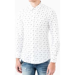 tekstylia Męskie Koszule z długim rękawem Antony Morato MMSL00425 FA430306 Biały