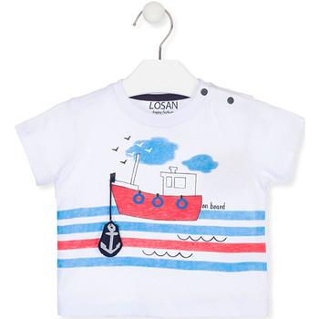 tekstylia Dziecko T-shirty z krótkim rękawem Losan 017-1004AL Biały