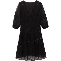tekstylia Damskie Sukienki krótkie Desigual 19WWVW32 Czarny