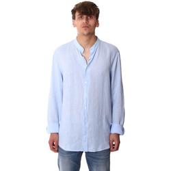 tekstylia Męskie Koszule z długim rękawem Calvin Klein Jeans K10K105389 Niebieski