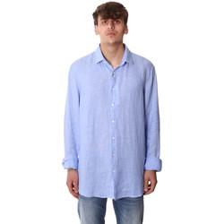 tekstylia Męskie Koszule z długim rękawem Calvin Klein Jeans K10K106018 Niebieski