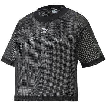 tekstylia Damskie T-shirty z krótkim rękawem Puma 598616 Czarny