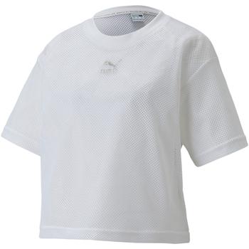 tekstylia Damskie T-shirty z krótkim rękawem Puma 598616 Biały