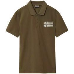 tekstylia Męskie Koszulki polo z krótkim rękawem Napapijri NP0A4E2K Zielony
