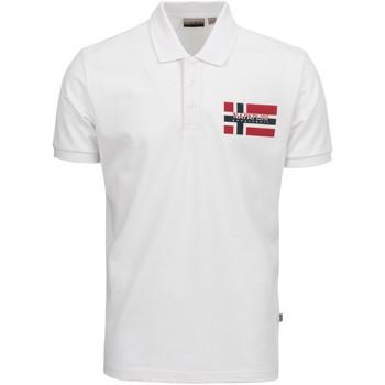 tekstylia Męskie Koszulki polo z krótkim rękawem Napapijri NP0A4E2K Biały