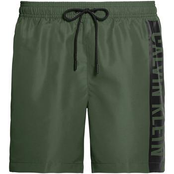 tekstylia Męskie Kostiumy / Szorty kąpielowe Calvin Klein Jeans KM0KM00437 Zielony
