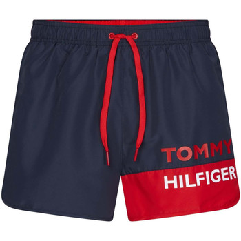 tekstylia Męskie Kostiumy / Szorty kąpielowe Tommy Hilfiger UM0UM01683 Niebieski