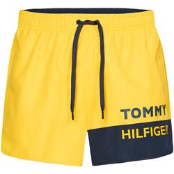 tekstylia Męskie Kostiumy / Szorty kąpielowe Tommy Hilfiger UM0UM01683 Żółty
