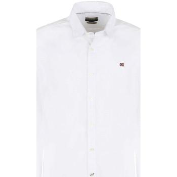 tekstylia Męskie Koszule z długim rękawem Napapijri NP0A4E2U Biały