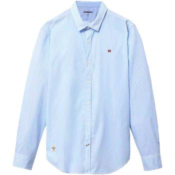 tekstylia Męskie Koszule z długim rękawem Napapijri NP0A4E2U Niebieski