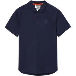tekstylia Męskie Koszulki polo z krótkim rękawem Napapijri NP0A4E8Q Niebieski