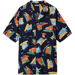 tekstylia Męskie Koszule z krótkim rękawem Napapijri NP0A4E81 Niebieski