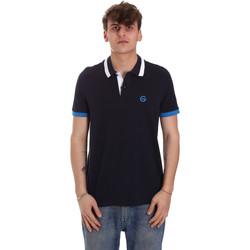 tekstylia Męskie Koszulki polo z krótkim rękawem Gaudi 011BU64043 Niebieski
