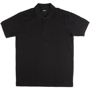 tekstylia Męskie Koszulki polo z krótkim rękawem Key Up 2800Q 0001 Czarny