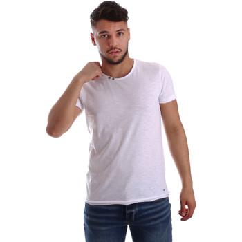 tekstylia Męskie T-shirty z krótkim rękawem Key Up 233SG 0001 Biały