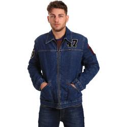 tekstylia Męskie Kurtki jeansowe Wrangler W4580512L Niebieski