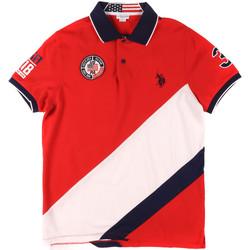tekstylia Męskie Koszulki polo z krótkim rękawem U.S Polo Assn. 43771 41029 Czerwony