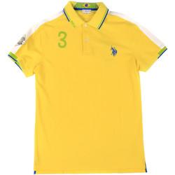 tekstylia Męskie Koszulki polo z krótkim rękawem U.S Polo Assn. 43770 41029 Żółty