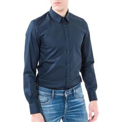 tekstylia Męskie Koszule z długim rękawem Antony Morato MMSL00362 FA400042 Niebieski