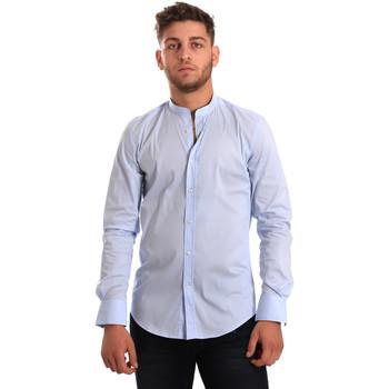 tekstylia Męskie Koszule z długim rękawem Antony Morato MMSL00376 FA450001 Niebieski