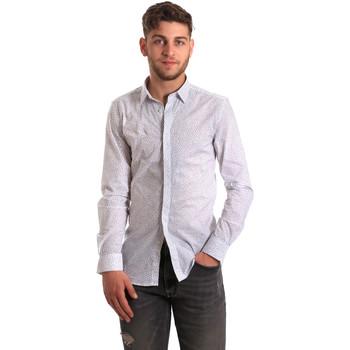 tekstylia Męskie Koszule z długim rękawem Antony Morato MMSL00428 FA430302 Biały