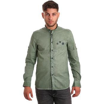 tekstylia Męskie Koszule z długim rękawem Antony Morato MMSL00452 FA400014 Zielony