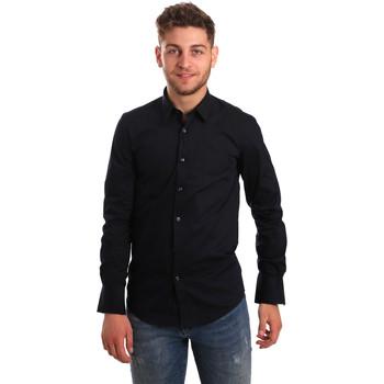 tekstylia Męskie Koszule z długim rękawem Antony Morato MMSL00472 FA450001 Niebieski