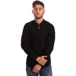 tekstylia Męskie Koszule z długim rękawem Antony Morato MMSL00472 FA450001 Czarny