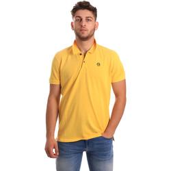 tekstylia Męskie Koszulki polo z krótkim rękawem Gaudi 811BU64074 Żółty