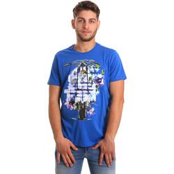 tekstylia Męskie T-shirty z krótkim rękawem Gaudi 811BU64154 Niebieski