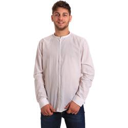 tekstylia Męskie Koszule z długim rękawem Gaudi 811FU45020 Biały