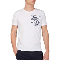 tekstylia Męskie T-shirty z krótkim rękawem Gas 542990 Biały