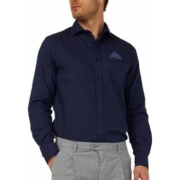 tekstylia Męskie Koszule z długim rękawem Gas 151131 Niebieski