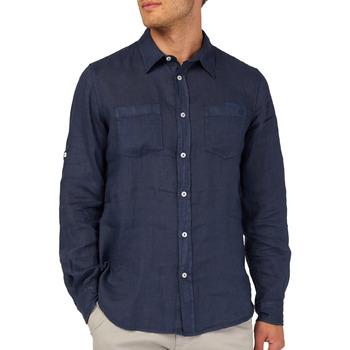 tekstylia Męskie Koszule z długim rękawem Gas 151150 Niebieski