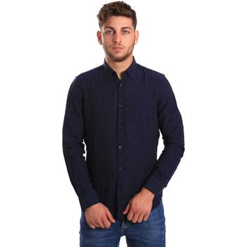 tekstylia Męskie Koszule z długim rękawem Gas 151200 Niebieski