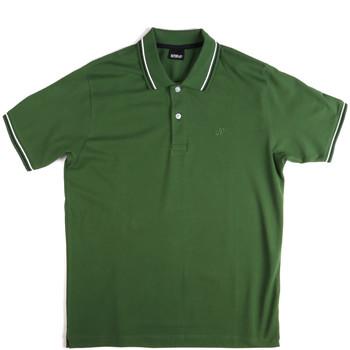tekstylia Męskie Koszulki polo z krótkim rękawem Key Up 2Q70G 0001 Zielony