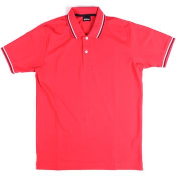 tekstylia Męskie Koszulki polo z krótkim rękawem Key Up 2Q70G 0001 Różowy