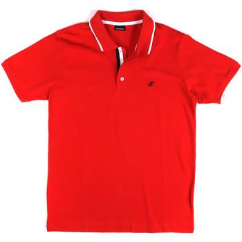 tekstylia Męskie Koszulki polo z krótkim rękawem Key Up 2Q711 0001 Czerwony