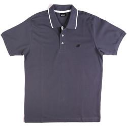 tekstylia Męskie Koszulki polo z krótkim rękawem Key Up 2Q711 0001 Niebieski