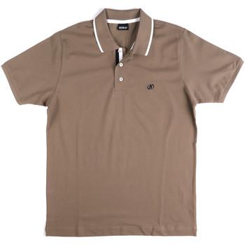 tekstylia Męskie Koszulki polo z krótkim rękawem Key Up 2Q711 0001 Szary