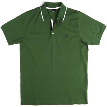 tekstylia Męskie Koszulki polo z krótkim rękawem Key Up 2Q711 0001 Zielony