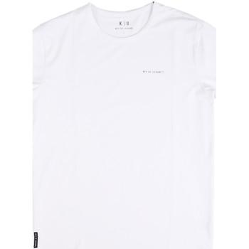 tekstylia Męskie T-shirty z krótkim rękawem Key Up 2G69S 0001 Biały