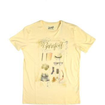 tekstylia Męskie T-shirty z krótkim rękawem Key Up 2G84S 0001 Żółty