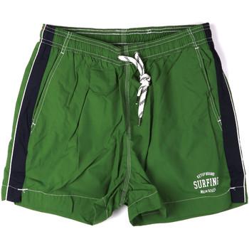 tekstylia Męskie Kostiumy / Szorty kąpielowe Key Up 2H17X 0001 Zielony