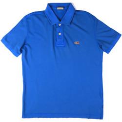 tekstylia Męskie Koszulki polo z krótkim rękawem Napapijri N0YHDX Niebieski