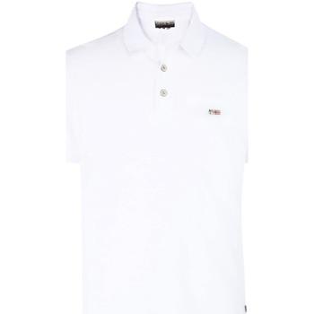 tekstylia Męskie Koszulki polo z krótkim rękawem Napapijri N0YHDX Biały