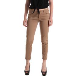 tekstylia Damskie Spodnie z pięcioma kieszeniami Gaudi 911BD25011 Brązowy